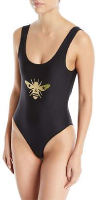 Ultracor Domain Bee High-Leg One-Piece Swimsuit
