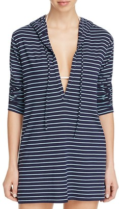 Tommy Bahama Striped Hoodie Swim Cover Up $98 thestylecure.com
