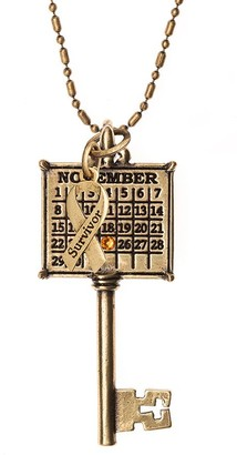 Personalized Brasstone Survivor Calendar KeyNecklace