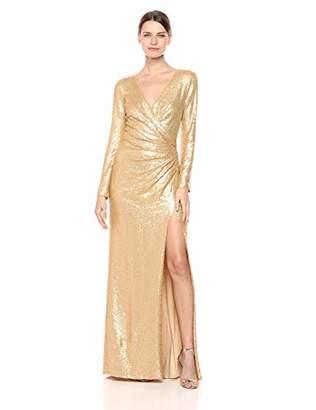 Tadashi Shoji Women's l/s Sequin Gown,S