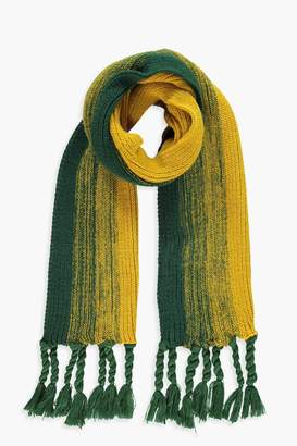 boohoo Striped Knitted Tassel End Scarf