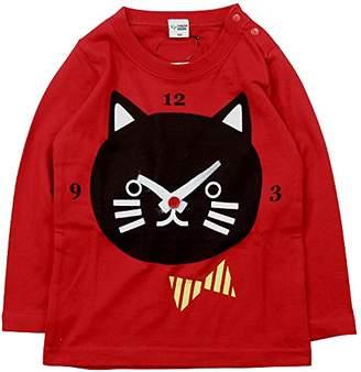 R & E (アール アンド イー) - 《春夏対応》 CHEEK ROOM(チイクルーム) 製品洗い加工済み42/2天竺ねこ時計長袖Tシャツ 95cm /RE NO.B-470212