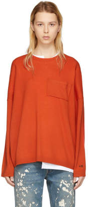 Acne Studios Orange Wool Libble Sweater