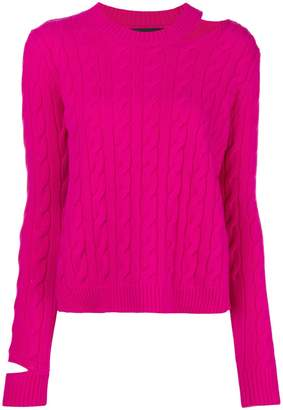Cavallini Erika cable knit cut-out sweater