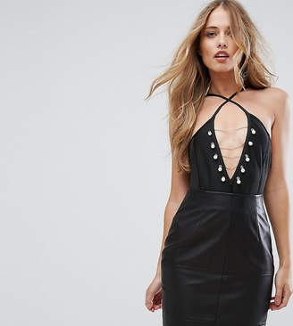 Missguided Pearl Chain Detail Bandage Body