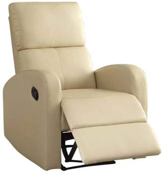 Benzara Reclining Armchair With Reverse Sloped Arms