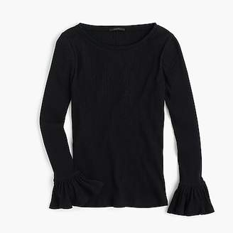 J.Crew Ribbed bell-sleeve top