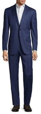 Canali Patterned Wool Suit