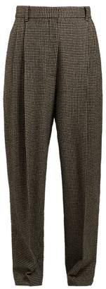 The Row - Nica Houndstooth Camel Trousers - Womens - Black White