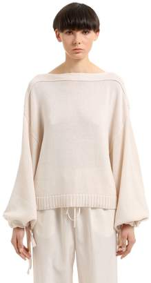 Jil Sander Cotton, Cashmere & Silk Blend Sweater