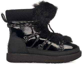 UGG Black Patent Leather Highland Waterproof Low Boot