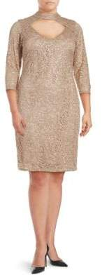 Marina Cutout-Front Lace Dress