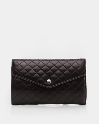 MZ Wallace Black Leather Jewelry Roll