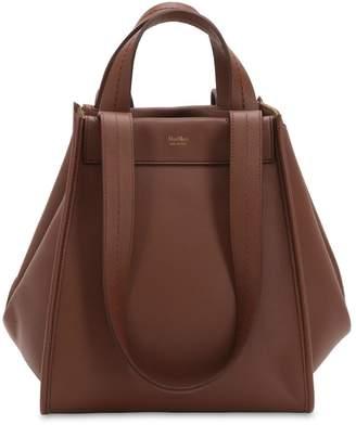 Max Mara Medium Reversible Cashmere & Leather Bag