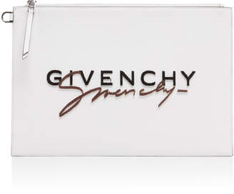 Givenchy Embroidered Leather Pouch