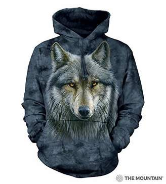 The Mountain Warrior Wolf Adult Hoodie