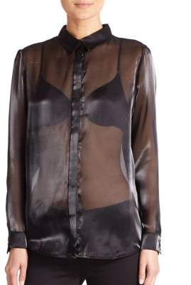 Sheer Organza Blouse $390 thestylecure.com