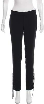 Haute Hippie Lace-Up-Accented Mid-Rise Pants w/ Tags