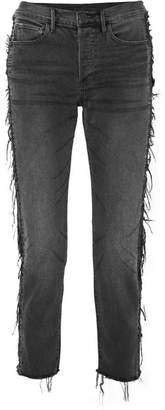 3x1 W3 Cora Cropped Distressed High-rise Straight-leg Jeans