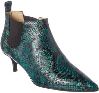 Bruno Magli M By Kisha Snakeskin-Embossed Leather Bootie