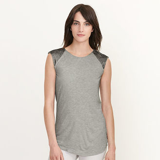 Ralph Lauren Beaded Cap-Sleeve Top $115 thestylecure.com