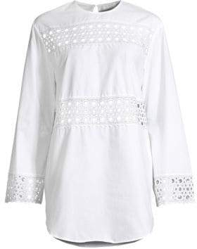 Sandro Chairman Eyelet-Trim Tunic Dress