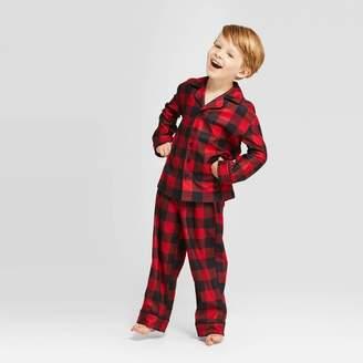 Buffalo David Bitton Wondershop Kid's Holiday Check Flannel Pajama Set - WondershopTM Red