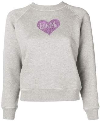 ALEXACHUNG Alexa Chung glitter heart print sweatshirt