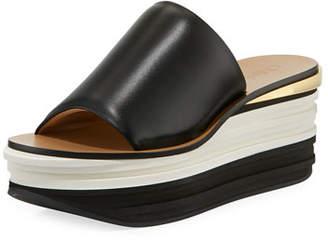 Chloé Strappy Leather Platform Sandal