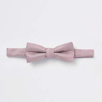 River Island Boys Pink jacquard bow tie