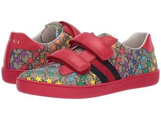 aa51eba08ab Gucci Kids GG Supreme Double Strap Sneaker (Little Kid Big Kid)