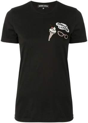 Markus Lupfer embellished patch T-shirt