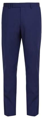 Paul Smith Wool Tuxedo Trousers - Mens - Blue