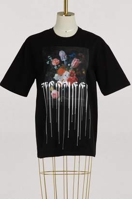 Alexander McQueen Paint drip over t-shirt