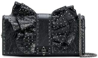 Valentino ruffled bow microstud bag