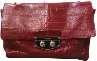 Saint Laurent Burgundy Leather Handbag