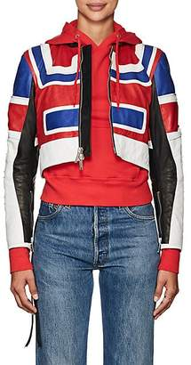 Taverniti So Ben Unravel Project BEN UNRAVEL PROJECT WOMEN'S LEATHER MOTO JACKET - RED SIZE 36 IT