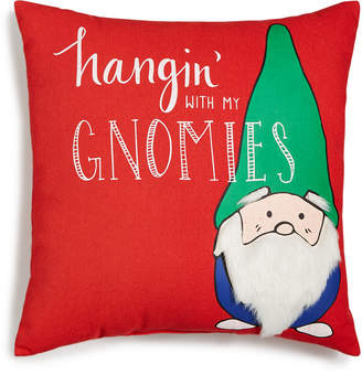 "Holiday Lane Square 18"" x 18"" Gnomies Pillow, Created for Macy's"