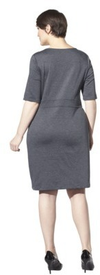 Women's Plus Size Elbow Sleeve Ponte Dress