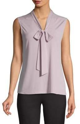 Karl Lagerfeld Paris Sleeveless Tie-Front Top