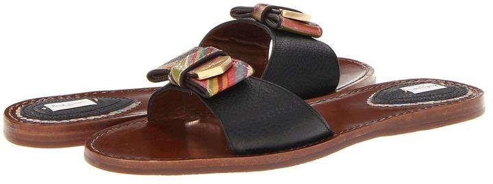Paul Smith Mimosa Slip on Sandal (Black Azalea/Small Swirl Natur) - Footwear