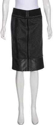 Kaufman Franco KAUFMANFRANCO Knee-Length Wool Blend Skirt