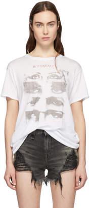 R 13 White Cashmere 13 Eyes Boy T-Shirt
