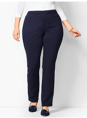 Talbots Plus Size High-Rise Straight-Leg Pant - Ponte