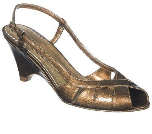 Isaac Mizrahi for Target® Marissa Crinkle Patent Wedge Sandals - Bronze