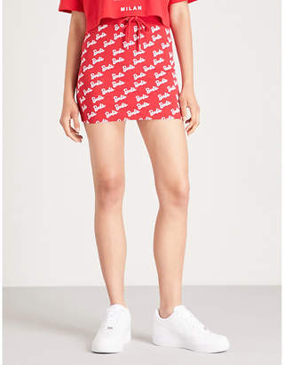 Missguided x Barbie jersey skirt