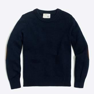 J.Crew Factory Boys' elbow-patch crewneck sweater