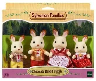 Sylvanian Families And Family Life Chocolate Rabbit Family