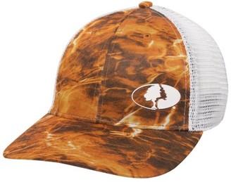 Mossy Oak Elements Performance Mesh back Stretch Fit Fishing Cap; Sunset Orange; Small / Medium
