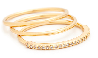 Gorjana Shimmer Bar Ring Set $55 thestylecure.com